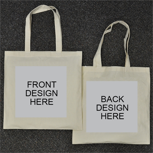 Custom Full Color 2 Side Cotton Tote Bag