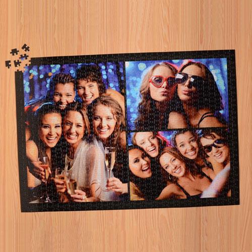 Black Three Collage 1000 Piece 19.75