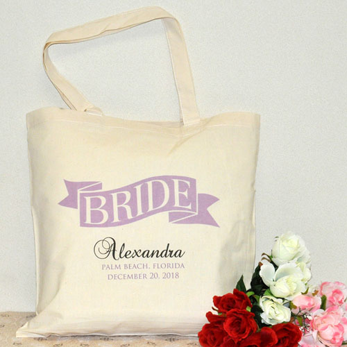 Personalized Wedding Tote For Bride
