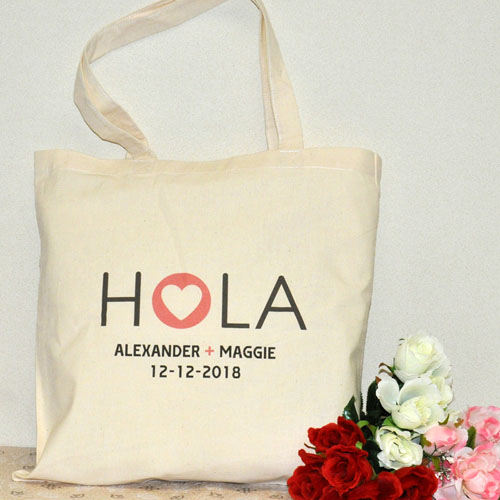 Hola Custom Cotton Tote Bag