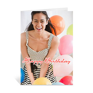 Custom Happy Birthday Photo Cards, 5X7 Portrait Folded