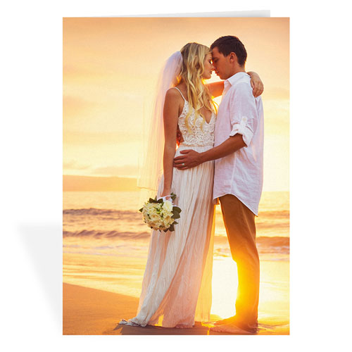 Custom Wedding Photo Cards, 5X7 Portrait Folded