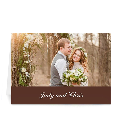 Custom Chocolate Wedding Cards