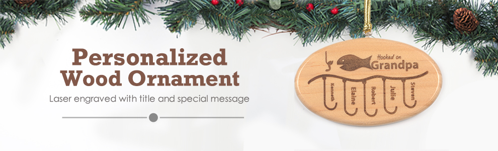 Custom Oval Shape Wood Ornaments