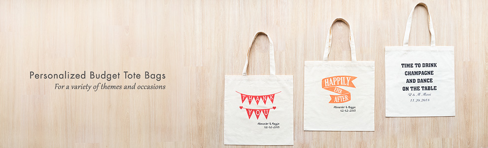 Personalized Budget Totes