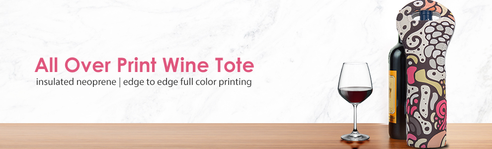 All Over Print Wine Totes