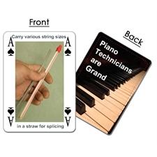 Piano Technician Playing Cards