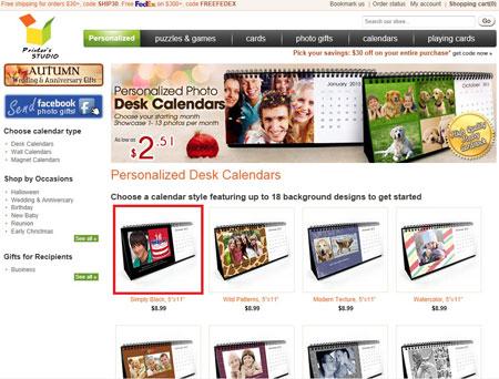 make your own desk calendar tutorials