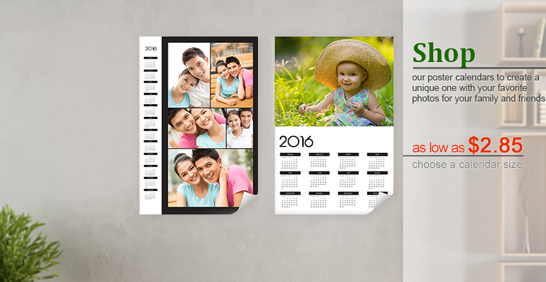 Calendar Poster Maker : Make your own printable calendars with photos on online