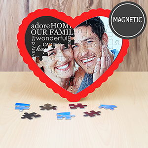 Magnetic Heart Shaped Puzzles