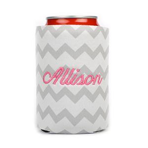 Embroidered Can Cooler