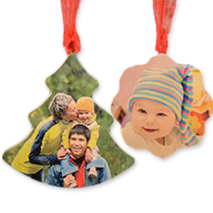 Custom Full Color Print Wood Ornaments