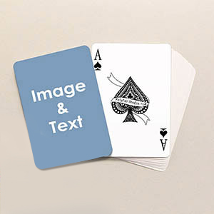 Photo playing cards custom printed deck choose our most popular sized playing cards 025 inches wider than bridge sized cards with loads of templates to choose from maxwellsz