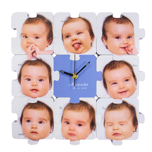 Personalized clocks custom puzzle clock as low as currencysign1050 negle Image collections