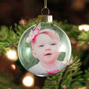 an exciting new way to decorate your tree with this one of a kind genuine glass ornament your photo is printed inside the ball and can be viewed on both - Glass Christmas Bulbs For Decorating