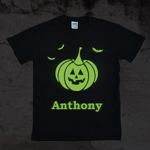 a5bdd9ee732 Fun to wear after dark to Halloween parties on personalized glow in the dark  t-shirts.