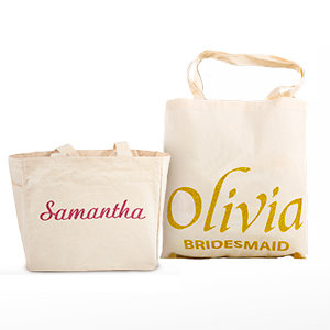 Add A Bit Of Sparkle To Natural Cotton Canvas Tote Bag By Adding Name It With Colorful Glitter Like Embellishment Ideal As Splendid Wedding Gift