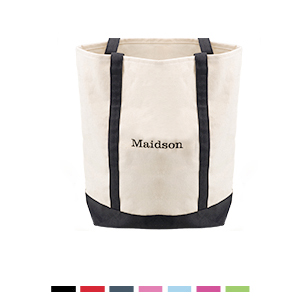 Medium Embroidery Canvas Tote