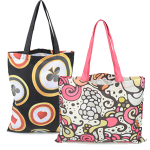 Show off your personal style and design your own tote bag with your artwork  printed all over the bag. Features two handles for easy carrying and comes  in a ... 846ca0e3664f3