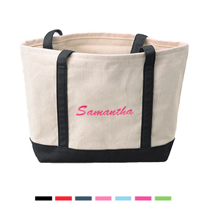 Small Embroidery Canvas Tote