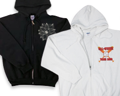 photo zipped hoodie
